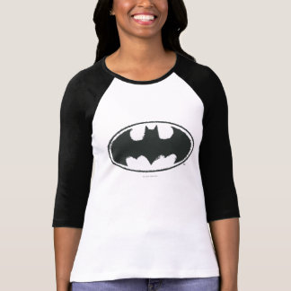 Batman Symbol | Spray Black White Logo Tee Shirt
