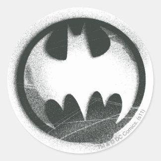 Batman Symbol | Spray Symbol Logo Classic Round Sticker