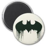 Batman Symbol   Spraypaint Logo 2 Inch Round Magnet