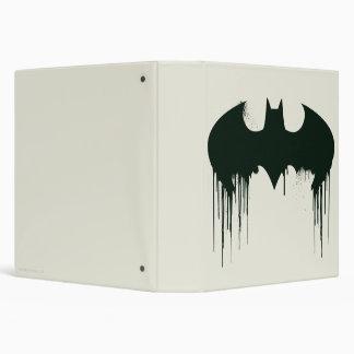 Batman Symbol   Spraypaint Logo 3 Ring Binder