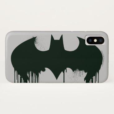 Batman Symbol | Spraypaint Logo iPhone X Case