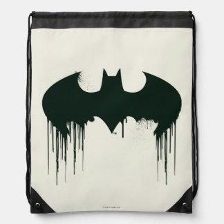 Batman Symbol | Spraypaint Logo Drawstring Backpack