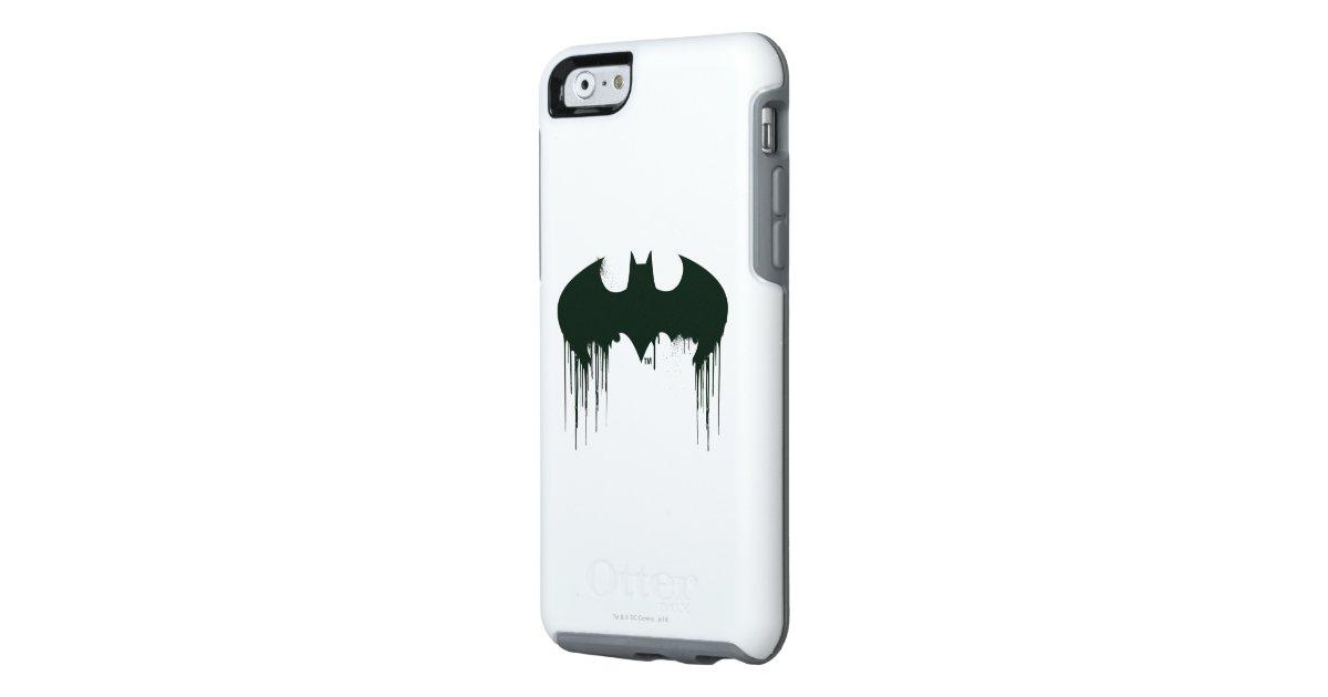 Batman symbol spraypaint logo otterbox iphone 6 6s case for Spray paint iphone case