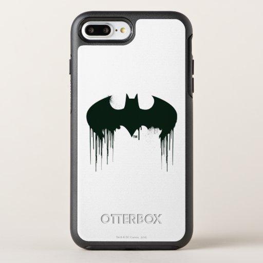 Batman Symbol | Spraypaint Logo OtterBox Symmetry iPhone 8 Plus/7 Plus Case