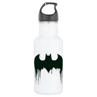 Batman Symbol | Spraypaint Logo Stainless Steel Water Bottle