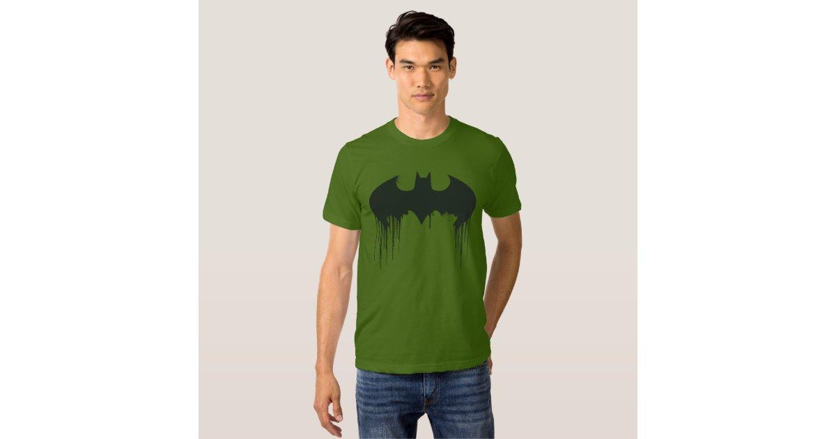 batman symbol spraypaint logo t shirt zazzle. Black Bedroom Furniture Sets. Home Design Ideas