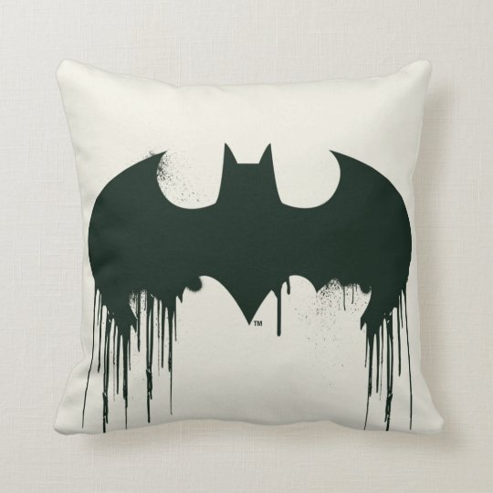 Batman Symbol Spraypaint Logo Throw Pillow Zazzle