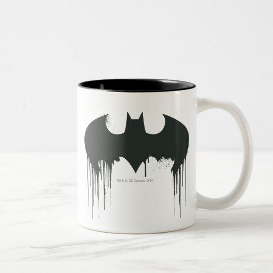 Batman Symbol Spraypaint Logo Two Tone Coffee Mug Zazzle