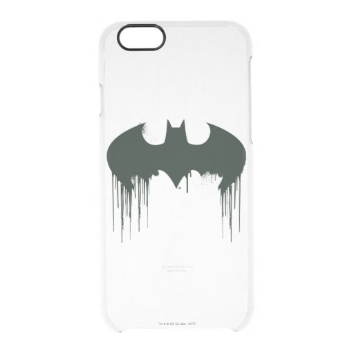 Batman Symbol | Spraypaint Logo Clear iPhone 6/6S Case