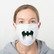 Batman Symbol | Spraypaint Logo White Cotton Face Mask