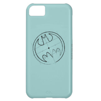 Batman Symbol | Technical Sketch Logo Cover For iPhone 5C