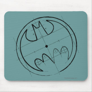 Batman Symbol | Technical Sketch Logo Mouse Pad