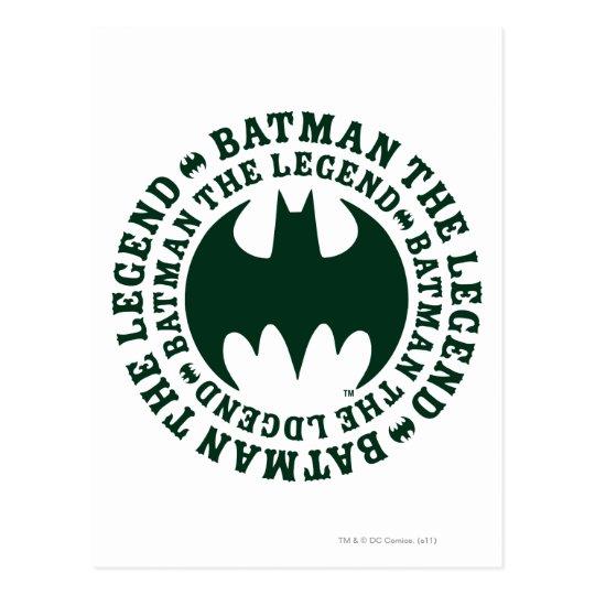 Batman Symbol | The Legend Logo Postcard