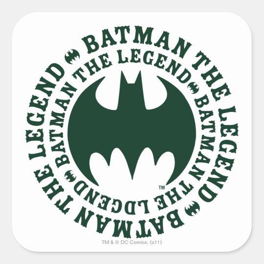 Batman Symbol   The Legend Logo Square Sticker