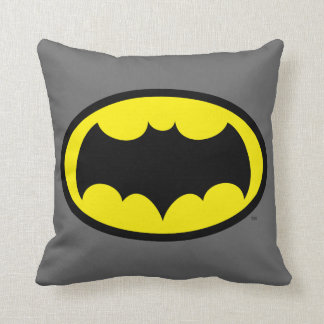 Batman Symbol Throw Pillow