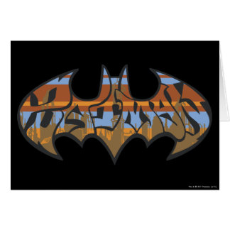 Batman Symbol | Urban Blue Brown Logo Card