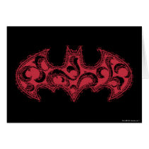 Batman Symbol | Urban Legends Red Waves Logo Card