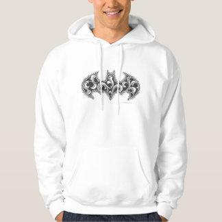 Batman Symbol | Urban Legends White Wave Logo Hoodie
