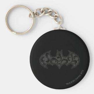 Batman Symbol   Urban Legends White Wave Logo Keychain