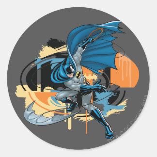 Batman Throw Classic Round Sticker