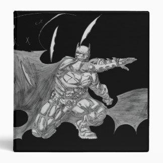 Batman Throwing Batarangs Drawing 3 Ring Binder