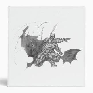Batman Throwing Batarangs Drawing Binder