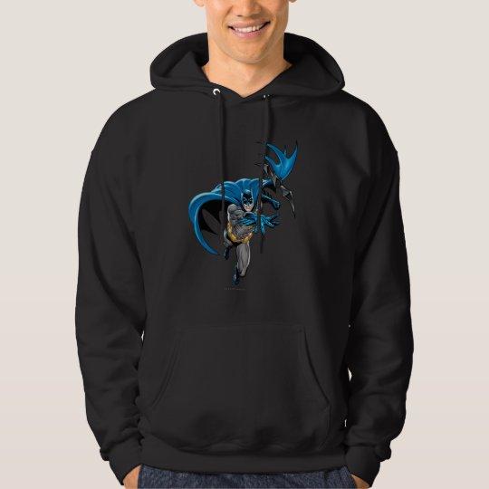 Batman throws batarang hoodie