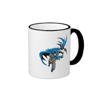 Batman throws batarang ringer coffee mug
