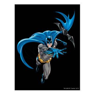 Batman throws batarang postcards