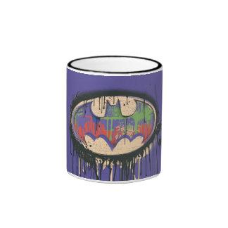 Batman - Twisted Innocence Logo - Green Purple Red Ringer Coffee Mug