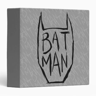 Batman Type in Head 3 Ring Binder