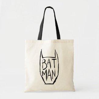 Batman Type in Head Budget Tote Bag