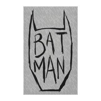 Batman Type in Head Canvas Print