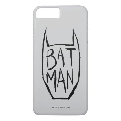 Batman Type in Head iPhone 8 Plus/7 Plus Case
