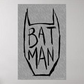 Batman Type in Head Poster