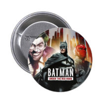 batman, under, red, hood, illustrations, Button with custom graphic design