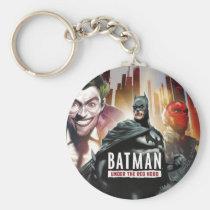 batman, under, red, hood, illustrations, Keychain with custom graphic design
