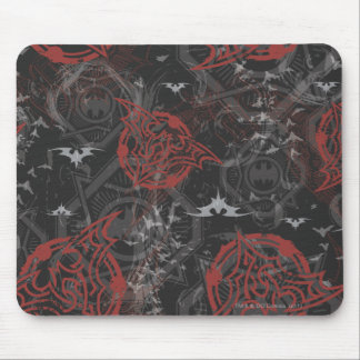 Batman Urban Legends - Bat Stamp Pattern Black/Red Mouse Pad