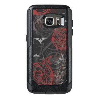 Batman Urban Legends - Bat Stamp Pattern Black/Red OtterBox Samsung Galaxy S7 Case