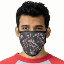 Batman Urban Legends - Bat Text Stamp Pattern Blac Face Mask