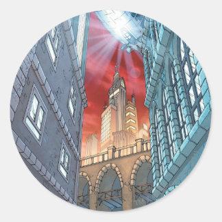 Batman Urban Legends - BG 3 - Gotham City Classic Round Sticker
