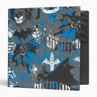 Batman Urban Legends - Caped Crusader Pattern Blue Binder