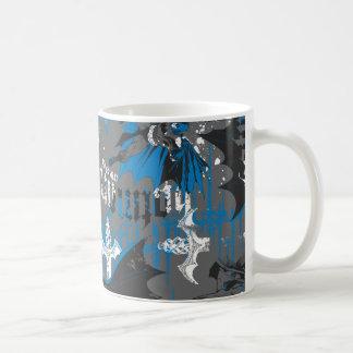 Batman Urban Legends - Caped Crusader Pattern Blue Coffee Mug