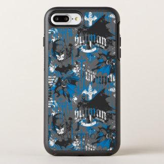 Batman Urban Legends - Caped Crusader Pattern Blue OtterBox Symmetry iPhone 8 Plus/7 Plus Case