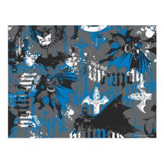 Batman Urban Legends - Caped Crusader Pattern Blue Postcard