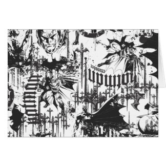 Batman Urban Legends - Caped Crusader Pattern BW Card
