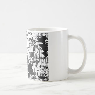 Batman Urban Legends - Caped Crusader Pattern BW Coffee Mug