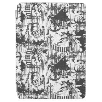 Batman Urban Legends - Caped Crusader Pattern BW iPad Air Cover