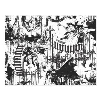 Batman Urban Legends - Caped Crusader Pattern BW Postcard