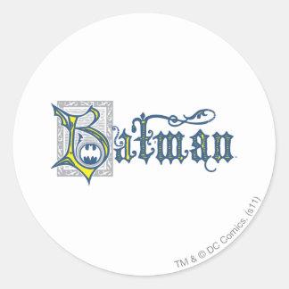Batman | Urban Legends Capital B Yellow Logo Classic Round Sticker